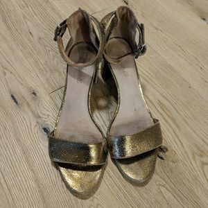 Madewell Gold Sandals 8.5